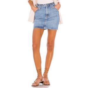 GRLFRND Sora High Waist Studded Denim Mini Skirt